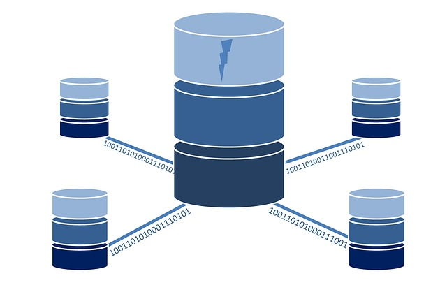 An illustration of the main database connected with smaller databases